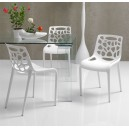 Chaise design blanche LOLLY