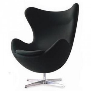 fauteuil design egg chair noir. Black Bedroom Furniture Sets. Home Design Ideas